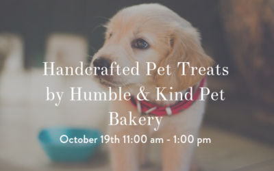 Handcrafted Pet Treats by Humble & Kind Pet Bakery October 19th