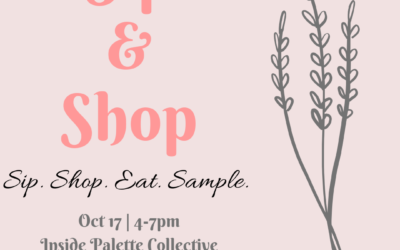 Sip & Shop October 17th
